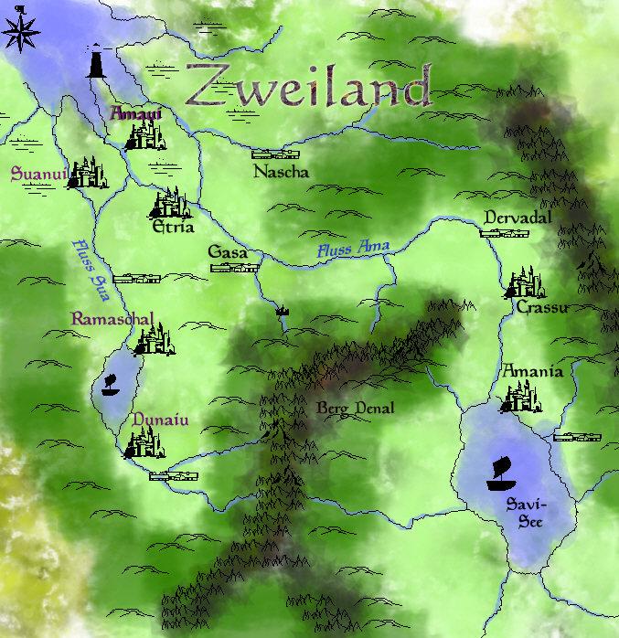 Zweiland Karte